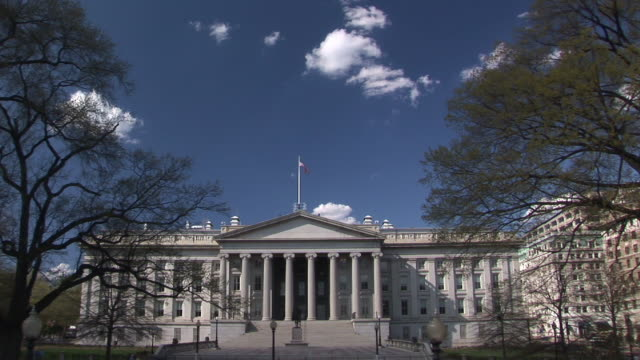 ws, united states department of treasury, washington dc, washington, usa - finanzministerium stock-videos und b-roll-filmmaterial