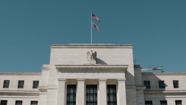 united states federal reserve building - currency stock videos & royalty-free footage