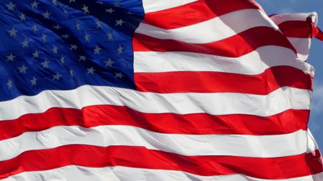 USA-Fähnchen im wind