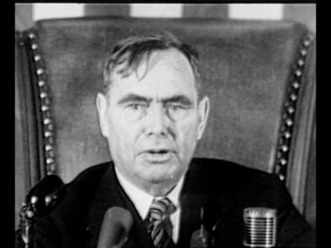 cu united states house speaker joseph martin speaks at session of congress / photographers take photos of martin in his office as he reads letter he... - general macarthur stock videos and b-roll footage