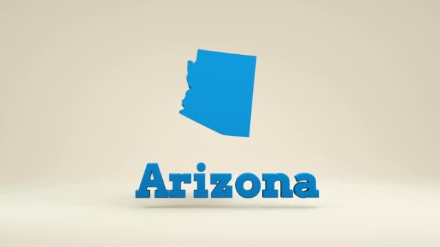 united states map, state of arizona - arizona stock-videos und b-roll-filmmaterial