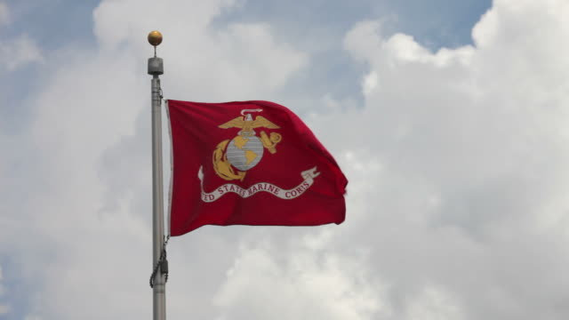 united states marine corps flag - marines stock videos & royalty-free footage