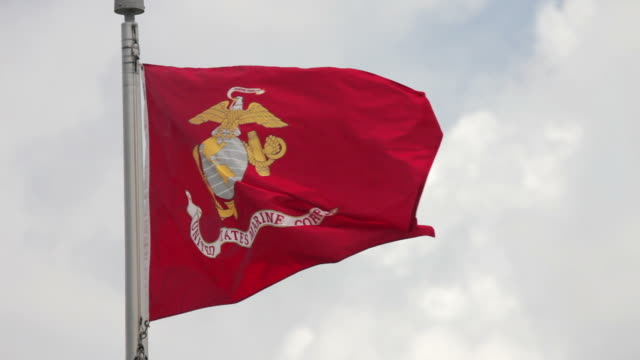 united states marine corps flag - us marine corps stock videos & royalty-free footage