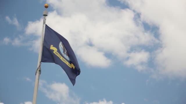 United States Navy mit Flagge