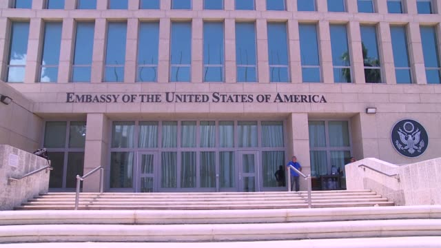 united states of america embassy building in havana - english language stock videos & royalty-free footage