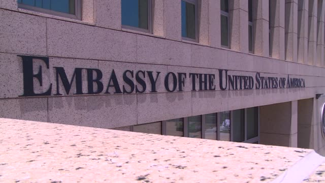 united states of america embassy in havana - english language stock videos & royalty-free footage