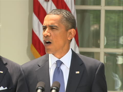 united states president barack obama speaking at rose garden press conference about the resignation of general stanley mcchrystal following... - nomination stock videos & royalty-free footage