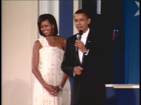 united states president barack obama speaks at the eastern north eastern regional inaugural ball. - 2009 stock videos & royalty-free footage