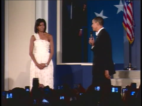 united states president barack obama speaks at the eastern north eastern regional inaugural ball - 2009 video stock e b–roll