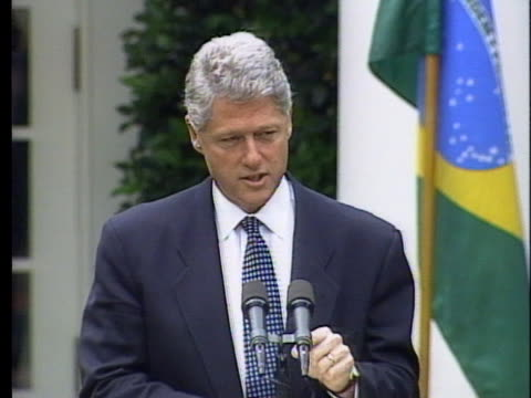 united states president bill clinton talks about the bombing of the a.p. murrah federal building in oklahoma city. - oklahoma city bombing stock videos & royalty-free footage