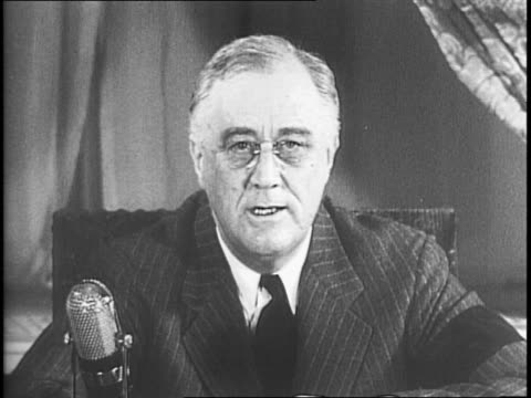 united states president franklin d roosevelt delivering a speech from his office about his proposed seven point program of principles that he... - 1942 stock videos & royalty-free footage
