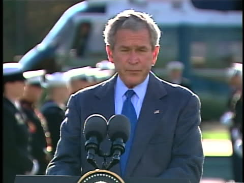 united states president george w. bush welcomes french president nicolas sarkozy and president of the european commission jose manuel barroso to camp... - 2000年風格 個影片檔及 b 捲影像