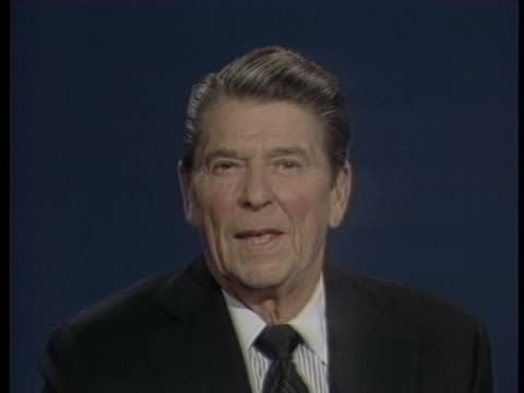 vidéos et rushes de united states president ronald reagan expresses optimism about upcoming congressional elections. - âge humain