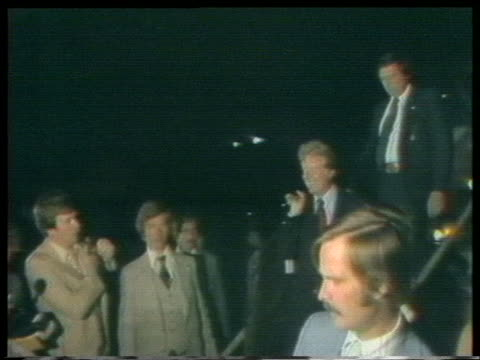united states presidential candidate jimmy carter steps off the plane in washington, d.c. - 1976 stock videos & royalty-free footage