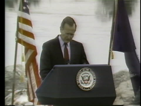united states republican presidential candidate george h.w. bush says he will ask for a program to cut sulfur dioxide emissions if elected president. - 1988 stock videos & royalty-free footage