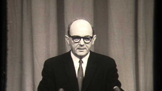 united states secretary of state david dean rusk on relations with ussr, russia communist conflict in the 1960s - cold war stock videos & royalty-free footage