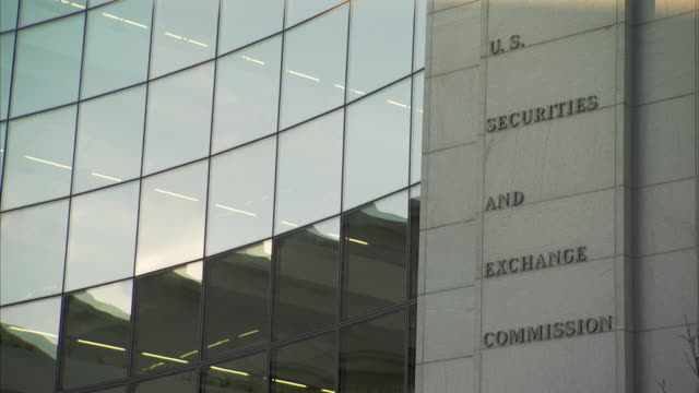 ms united states securities and exchange commission building and wall of glass windows / washington, washington dc, usa - rules stock videos & royalty-free footage