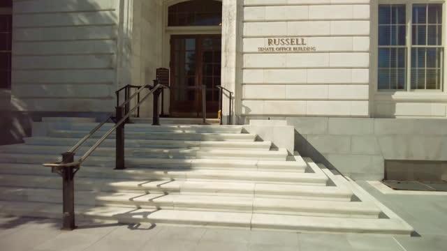ワシントンdcの米国上院ラッセルオフィスビル - 連邦議会議員点の映像素材/bロール