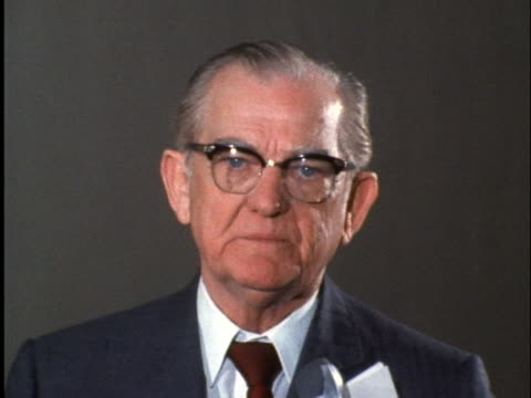 united states senator john stennis makes a statement concerning a u.s. military aircraft going down over international waters near north korea. - united states and (politics or government)点の映像素材/bロール