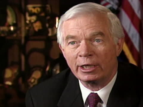 united states senator thad cochran says that the united states is in a very vulnerable position and adds that people will be doing things that the... - united states and (politics or government) stock videos & royalty-free footage