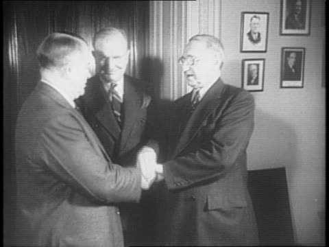united states senator thomas connally of texas smiles and tosses papers in the air / united states senators alben barkley burton wheeler and walter... - alben w. barkley stock videos and b-roll footage