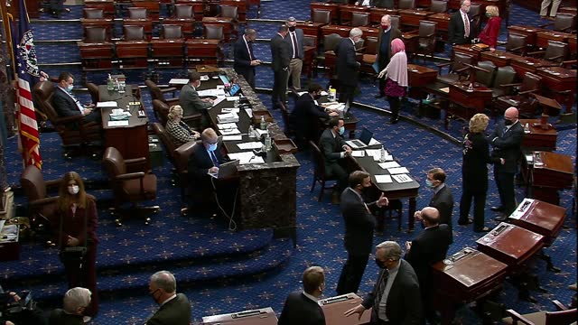 united states senators are seen on the floor during failed cloture vote on limiting debate for fcc inspector general during saturday session as... - congress stock videos & royalty-free footage