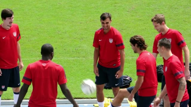 united states soccer team practices in panama city on the eve of their brazil 2014 fifa world cup concacaf qualifier match against panama clean us... - national team stock videos & royalty-free footage