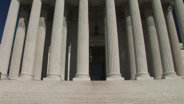 ms, tu, united states supreme court building, washington, dc, washington, usa - ペディメント点の映像素材/bロール