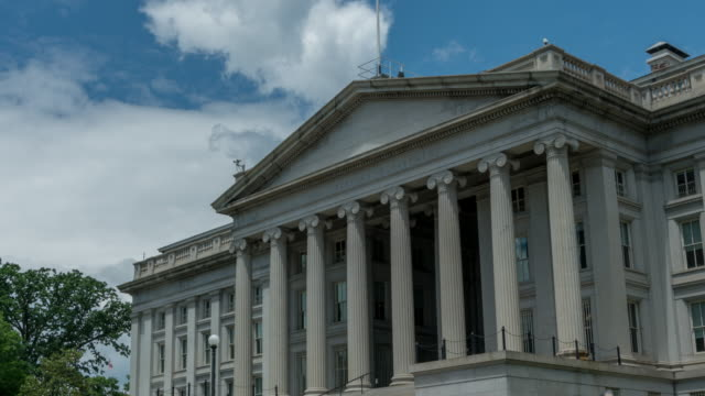 united states treasury department in washington, dc - 4k/uhd - zoom in - treasury stock videos and b-roll footage