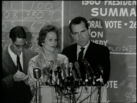 United States Vice President Richard Nixon concedes the 1960 Presidential Election to President Elect John F Kennedy