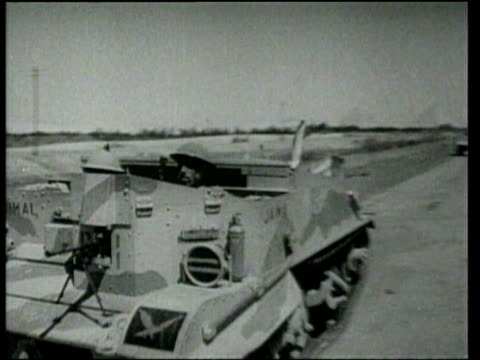 british and french commonwealth and colonial troops blunt italy's attacks in north africa - tank stock videos and b-roll footage