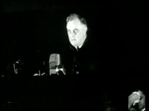 president roosevelt condemns italian military aggression and commits american resources and capabilities in response. - newsreel stock videos & royalty-free footage