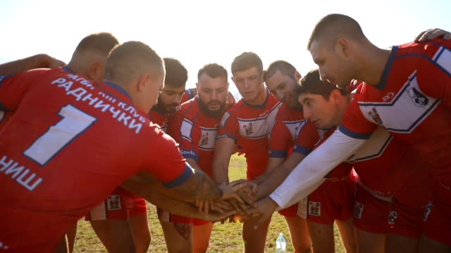 unity of rugby team - rugby stock videos and b-roll footage