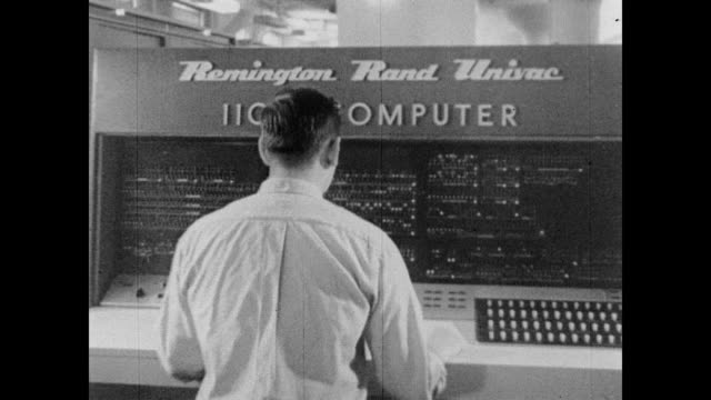 1960 univac computer analyzes census data - census stock videos & royalty-free footage