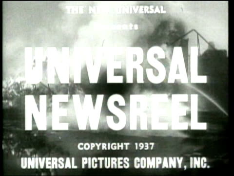 1937 universal newsreel opening - newsreel stock videos & royalty-free footage