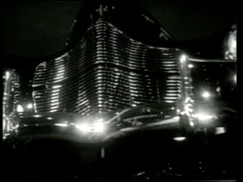 automobiles are previewed in a show at grand central palace. - 1939 stock-videos und b-roll-filmmaterial