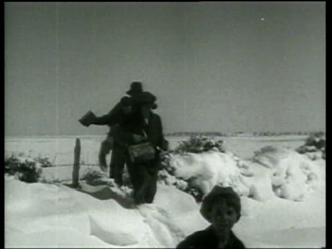 a snow storm provides promise for farmers in the colorado dust bowl - dust bowl stock videos and b-roll footage