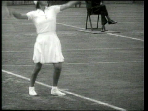 Universal Newsreel Alice Marble and Bobby Riggs win singles championships at Forest Hills
