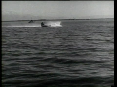 allies fight against the nazis by air and land at anzio italy - seconda guerra mondiale video stock e b–roll