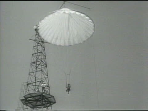 Amelia Earhart tries a new parachute tower in Prospertown New Jersey