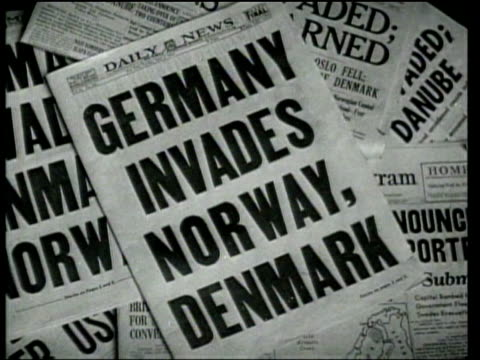 americans and englishmen demonstrate concern as germany invades denmark - 1940 stock videos & royalty-free footage