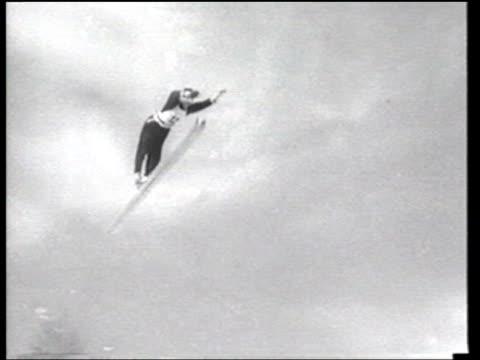 Austrian Josef Sepp Bradl wins the AustrianGerman ski jump championship in the Tyrolean Alps