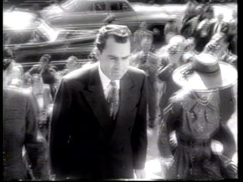 celebrities attend the marriage ceremony of wisconsin senator joseph mccarthy and jean kerr at saint matthews cathedral. - newsreel stock videos & royalty-free footage