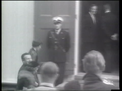 crowds watch as steven rockefeller marries anne marie rasmussen at a lutheran church in norway - 1959 stock videos & royalty-free footage