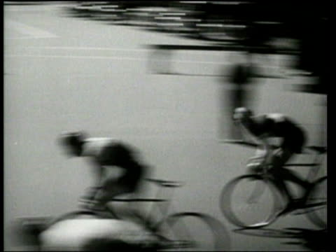 cyclists race in the national road championships. - 1939 stock-videos und b-roll-filmmaterial