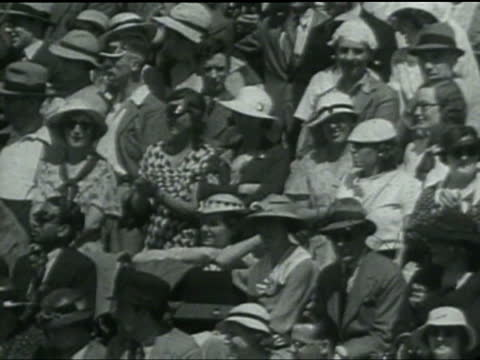 Englishman FJ Perry wins the men's singles and Helen Wills Moody wins the women's singles at Wimbledon