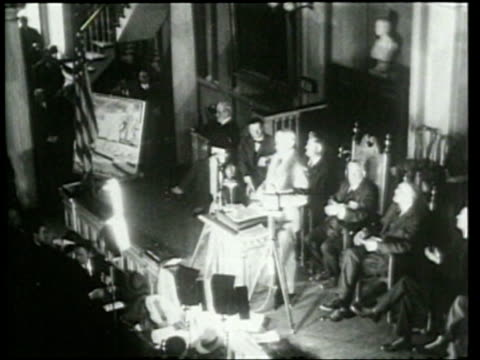 stockvideo's en b-roll-footage met general edwards gives a speech on prohibition at the memoriam of the death of liberty at faneuil hall in boston - 1920 1929