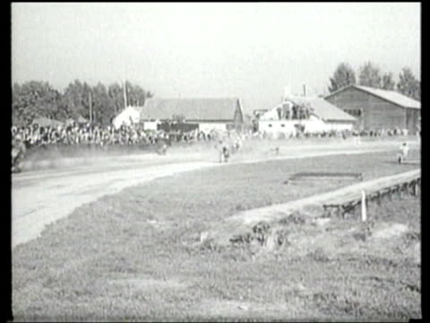 german motorcyclists race on a dirt track for the blue ribbon of bavaria - newsreel stock videos & royalty-free footage