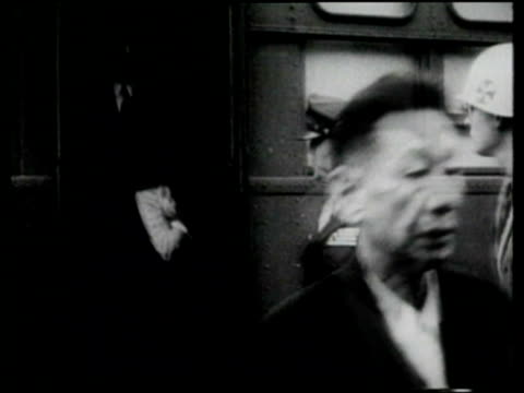 hideki tojo and other japanese leaders go to trial for war crimes committed during world war ii - war crimes trial stock videos and b-roll footage