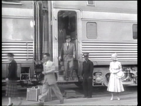 hollywood stars model photoplay star fashions in front of a railway car - hollywood california stock videos & royalty-free footage